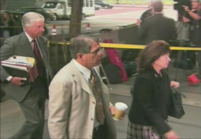 Defense attorneys in the Conrad Murray trial head to court on Wednesday. (ATVN)