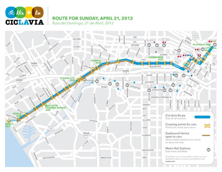 April CicLAvia will stretch from Downtown to Venice Beach (Mayor's office)