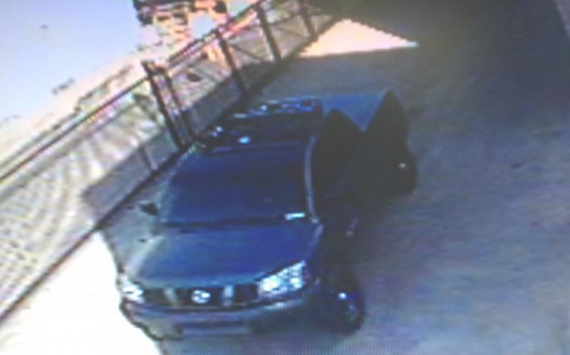 Dorner's suspected vehicle is a gray Nissan Titan with license plate # 8D83987. (Irvine Police Department)