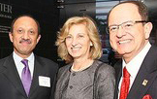 From left, Inderbir S. Gill, Niki Nikias and USC president C. L. Max Nikias (Photo courtesy of USC News/Philip Channing)
