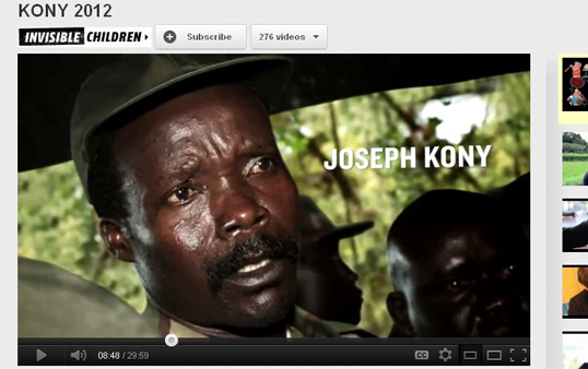 Kony 2012 on Youtube.