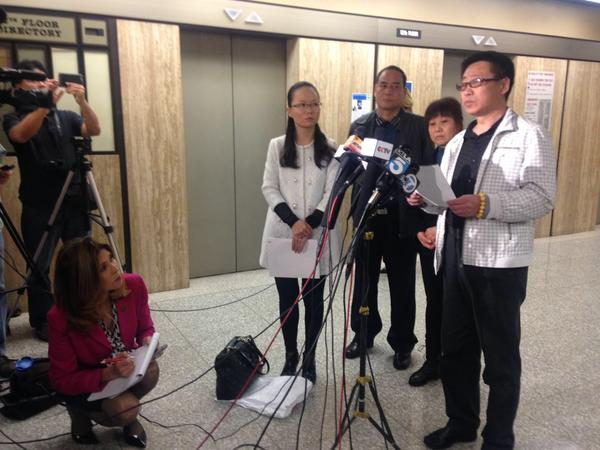 Ming Qu's father speaks out after sentencing. (Ani Ucar/ATVN)