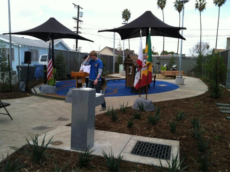 New park is unveiled in South LA (ATVN/Irene Byon)