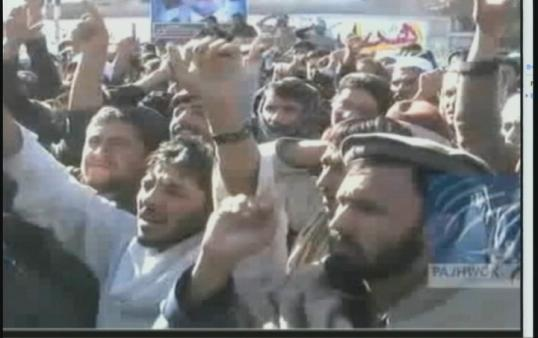 Protests erupt throughout Afghanistan. (Photo courtesy of CNN)