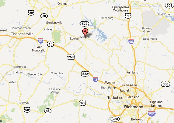 The earthquake was centered near Mineral, Virginia, right outside of Richmond.
