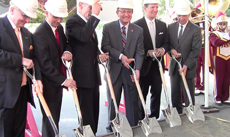 Groundbreaking of USC Biocenter