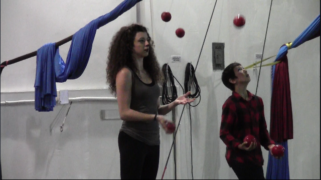 Juggling is just one of the tricks mastered by these young circus artists.