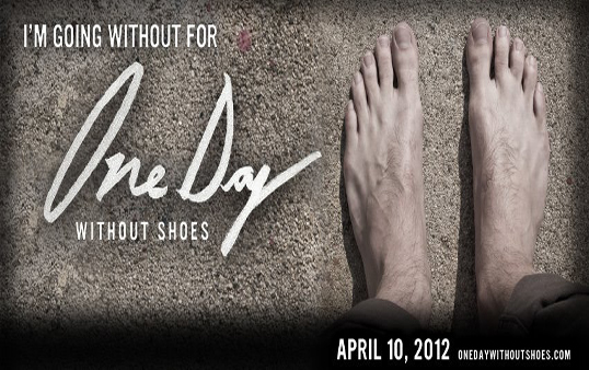 "TOMS Shoes is hosting their annual ""One Day Without Shoes,"" (Photo courtesy of Facebook)"