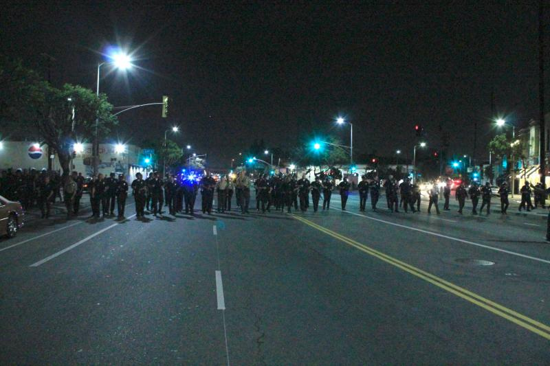The LAPD were responding to a party hosted by people of color. (Rikiesha Pierce/Neon Tommy)