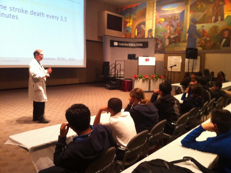 Students participating in Brainworks Conference at Cedars-Sinai (ATVN)