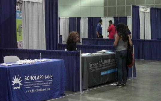 Students seeking financial aid learned about valuable resources.