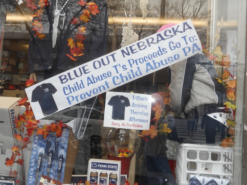 Penn State recognizes child abuse victims (courtesy of Toni Lynn Lozzi)