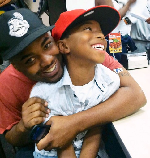 Fredrick Martrin with his son Fredrick Martin III. (Photo courtesy of Facebook)