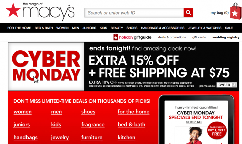 We have 27 Macys promotional codes for you to choose from including 3 coupon codes, 22 sales, and 2 deals. Most popular now: 20% Off Macys Discount. Latest offer: % Off Shoes for Women%(K).