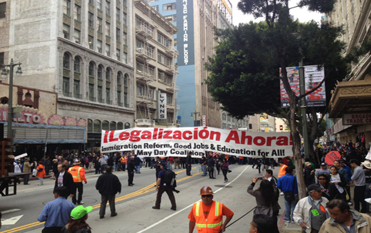 May Day Riots (Photo Courtesy Twitter user @PhilipAcuna)