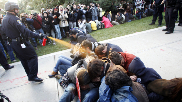 UC Task Force said that UC Davis Police should not have used pepper-spray on students (Photo courtesy AP).