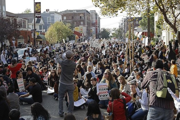 UC Berkeley students protest Friday (Associated Press)
