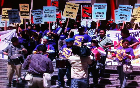 "Occupy L.A. activists are protesting against ""corporate tax dodgers."" (Photo by ATVN)"