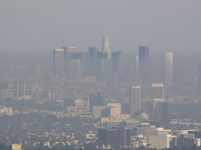 L.A. County received an 'F' grade for ozone and particle pollution. (Chang'r/Flickr)