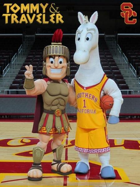 USC Athletics tweeted out this photo unveiling the new mascots.